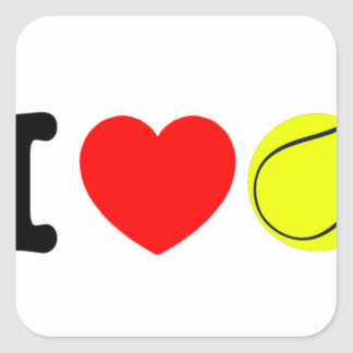 Adesivo Quadrado Eu amo o tênis