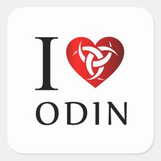 Adesivo Quadrado Eu amo Odin