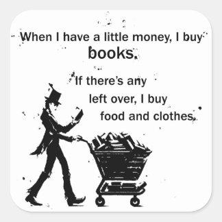 Adesivo Quadrado Eu compro livros