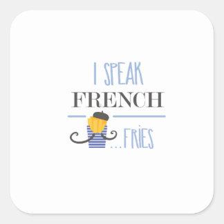 Adesivo Quadrado Eu falo o francês… Fritadas