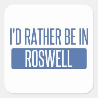 Adesivo Quadrado Eu preferencialmente estaria em Roswell GA