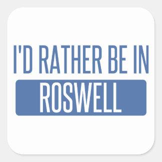 Adesivo Quadrado Eu preferencialmente estaria em Roswell nanômetro