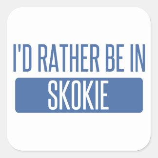 Adesivo Quadrado Eu preferencialmente estaria em Skokie