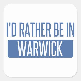 Adesivo Quadrado Eu preferencialmente estaria em Warwick