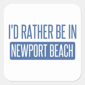 Adesivo Quadrado Eu preferencialmente estaria na praia de Newport