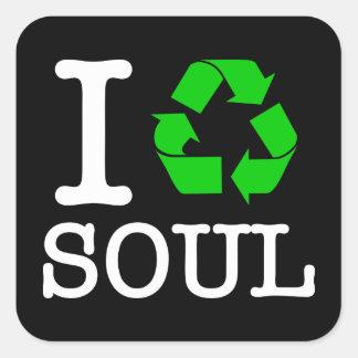 Adesivo Quadrado Eu recicl a alma