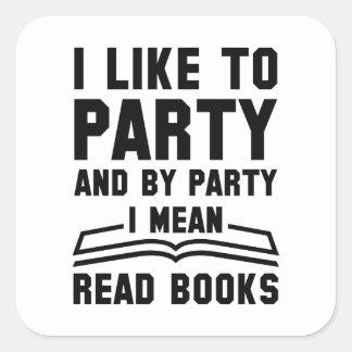 Adesivo Quadrado Eu significo livros lidos