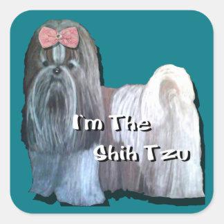 Adesivo Quadrado Eu sou a coleção de Shih Tzu