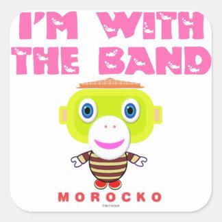 Adesivo Quadrado Eu sou com o Macaco-Morocko Banda-Bonito