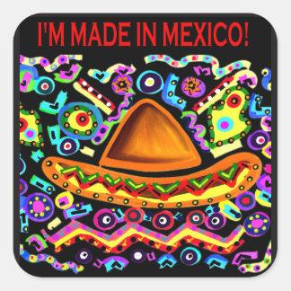 Adesivo Quadrado Eu SOU FEITO EM MÉXICO