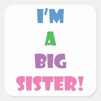 Adesivo Quadrado Eu sou um texto da irmã mais velha