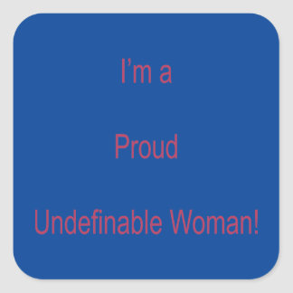 Adesivo Quadrado Eu sou Undefinable