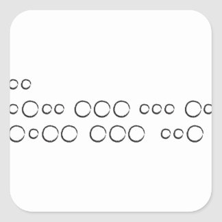 "Adesivo Quadrado ""Eu te amo"" no código Morse, círculos ásperos"
