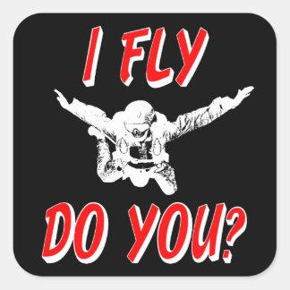 Adesivo Quadrado Eu vôo, faz você? (branco)