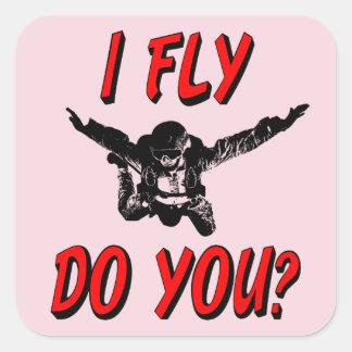 Adesivo Quadrado Eu vôo, faz você? (preto)
