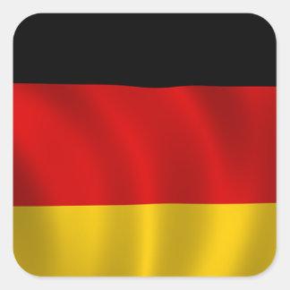 Adesivo Quadrado Europeu alemão de Europa do símbolo da bandeira