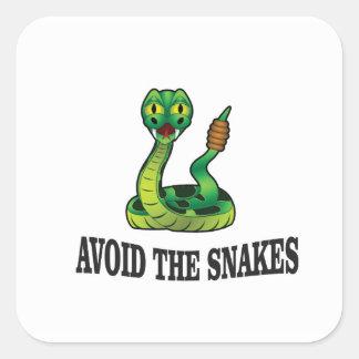 Adesivo Quadrado evite os cobras
