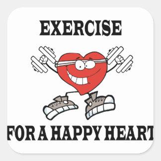 Adesivo Quadrado exercício heart2