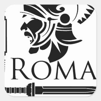 Adesivo Quadrado Exército romano - Legionary com Gladio