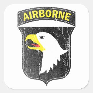 Adesivo Quadrado Exército transportado por via aérea 101 Eagle