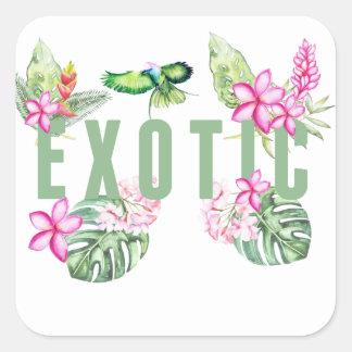 Adesivo Quadrado Exotic