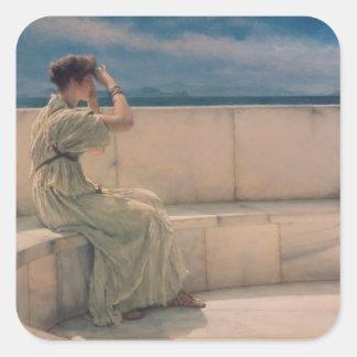 Adesivo Quadrado Expectativas de Alma-Tadema  , 1885