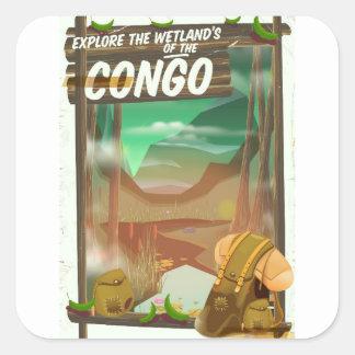 Adesivo Quadrado Explore os pantanais do Congo