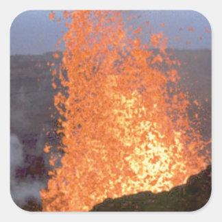Adesivo Quadrado explosão do vulcão da lava