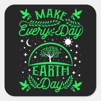 Adesivo Quadrado Faça o Dia da Terra diário
