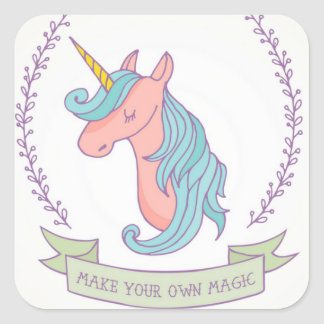 Adesivo Quadrado Faça sua própria mágica!