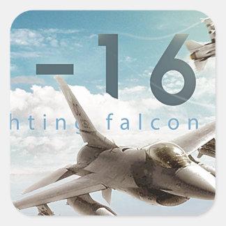 Adesivo Quadrado Falcão F-16 de combate