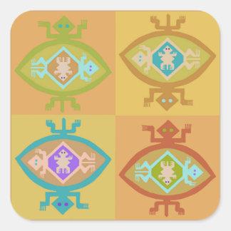 Adesivo Quadrado Família de Tortuga do sudoeste