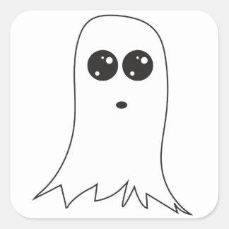 Adesivo Quadrado Fantasma amigável