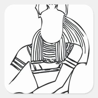 Adesivo Quadrado Faraó 1 do escaravelho