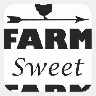 Adesivo Quadrado fazenda doce da fazenda
