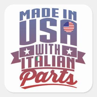 Adesivo Quadrado Feito em América com peças italianas