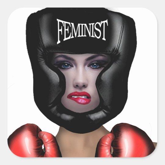 Adesivo Quadrado Feminista