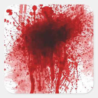 Adesivo Quadrado ferida sangrenta da espingarda