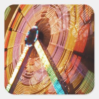 Adesivo Quadrado Ferris roda dentro o movimento