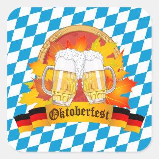 Adesivo Quadrado Festival alemão da cerveja de Oktoberfest
