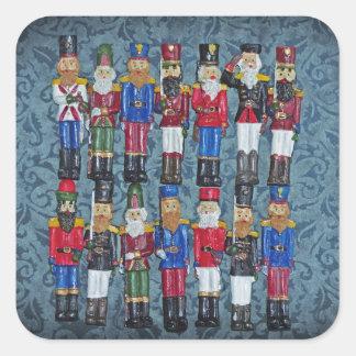 Adesivo Quadrado Figuras do natal vintage, soldados idosos