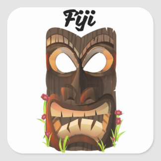 Adesivo Quadrado Fiji cinzelou a máscara