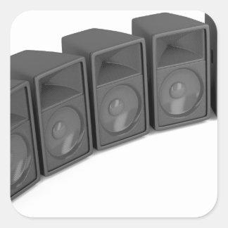 Adesivo Quadrado Fileira dos auto-falante