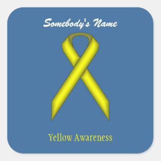 Adesivo Quadrado Fita padrão amarela