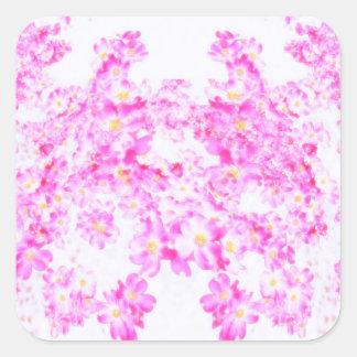 Adesivo Quadrado Flor cor-de-rosa do Dogwood