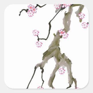 Adesivo Quadrado Flor de cerejeira 17 Tony Fernandes