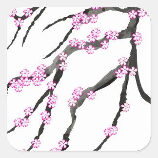 Adesivo Quadrado Flor de cerejeira 20 de Sakura, Tony Fernandes