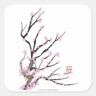 Adesivo Quadrado Flor de cerejeira 23 de Sakura, Tony Fernandes
