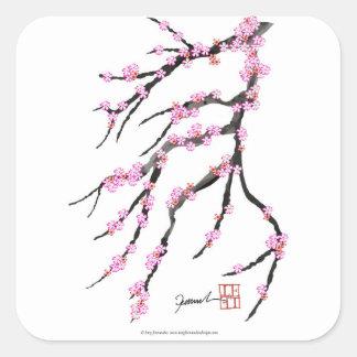 Adesivo Quadrado Flor de cerejeira cor-de-rosa 31, Tony Fernandes