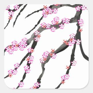 Adesivo Quadrado Flor de cerejeira vermelha 32, Tony Fernandes